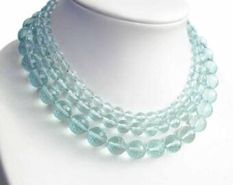"""Necklace with quartz """"FRESHNESS"""""""