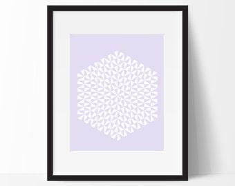 Geometric Print Art, Geometric Art, Geometric Printable, Digital Art Print, Geometric Print, Instant Download, Modern, Violet