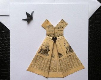 Birthday dress origami card