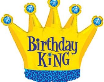 Birthday King Mylar Balloon
