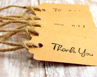 Rustic Wedding Favor Tags- Rustic Wedding Tags - Rustic Thank You Tags - Favor Tags - Country Wedding - Barn Wedding - Rustic Wedding