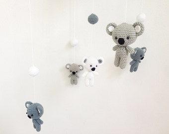 Baby mobile - Cute Koala Crochet baby mobile,Crib mobile, Nursery decor, Baby gift, Handmade baby mobile, Baby crib mobile Amigurumi