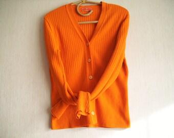 Cardigan vest orange