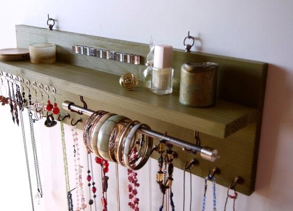 porte bijoux avec tag re pr sentoir de boucles doreilles. Black Bedroom Furniture Sets. Home Design Ideas