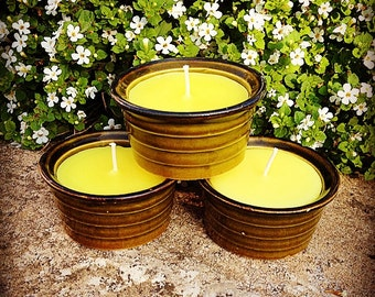 Set of 3 Recycled Ramekin Candles