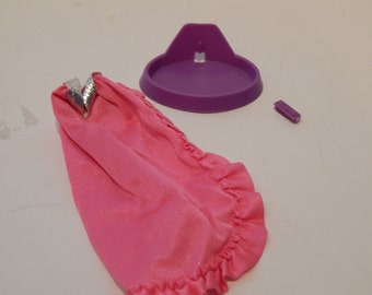 Vintage Barbie Twirly Curls Long Side Slit Skirt and accessory only 1980s Mattel