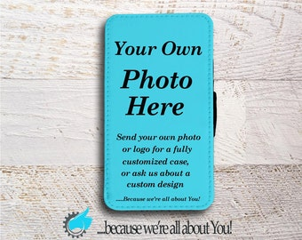 Personalized Samsung Wallet Phone Case use your own photo Logo or custom design for Samsung Note 3 Note 4 Note 5 Grand Prime or J5