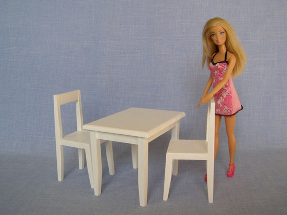 Table And Chairs For 12 Inch Barbie Doll