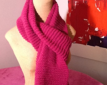Beautiful raspberry color scarf