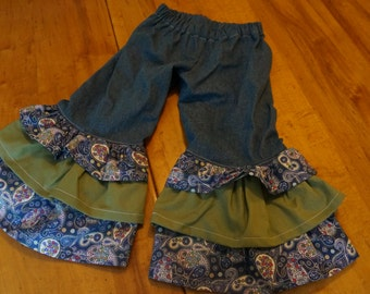 Girls size 3 ruffle pants