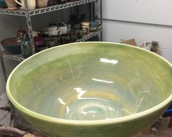 Handmade ceramic serving bowl, Pottery Bowl, Porcelain