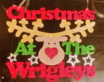 Christmas at the... Any surname plaque