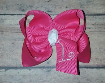 Monogrammed Initial Twisted Boutique Hair Bow