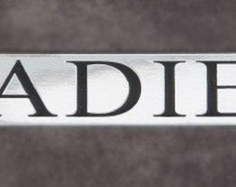 Ladies Engraved Bathroom sign