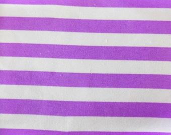 Knit Magic Purple 1/2 inch Stripes Fabric 1 yard