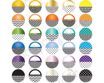 One Inch Circles Printable Planner Stickers for paper Planners and Organizers