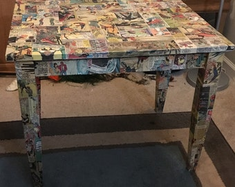 Comic book side table