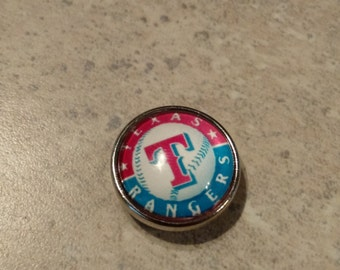 Texas Rangers Snap Button