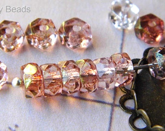 Rosaline, Rondelle Beads, Czech Beads, N15495