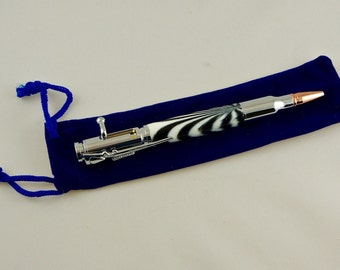 Bolt action bullet pen