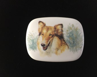 Porcelain Collie Pin