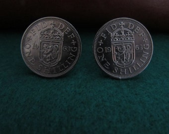 Handmade Genuine British Shilling Cufflinks