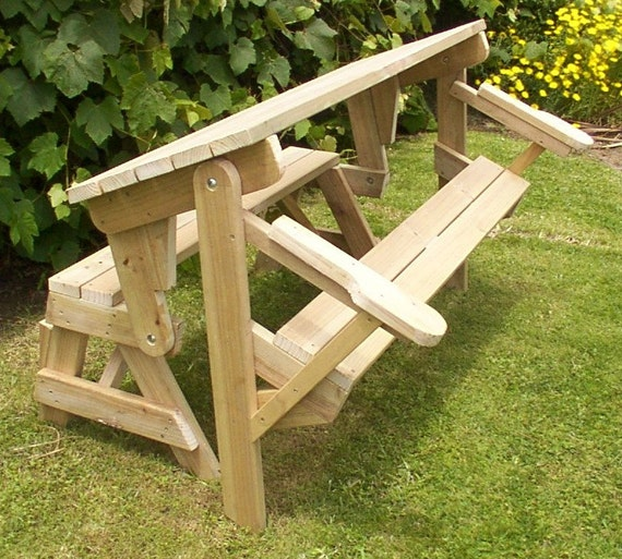 1 piece folding picnic table woodworking plans by BuildEazy