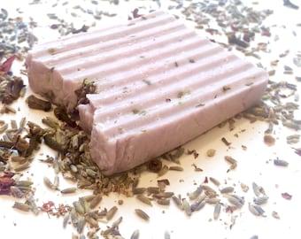 Sea salt and Shea butter lavender soap.