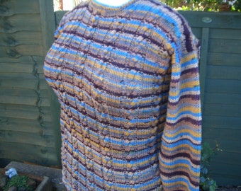 Ladies Cable jumper, Womens Hand Knitted Jumper, Ladies Hand Made Jumper, Womens Knit Jumper, Ladies Hand Knitted Jumper, Merino Jumper