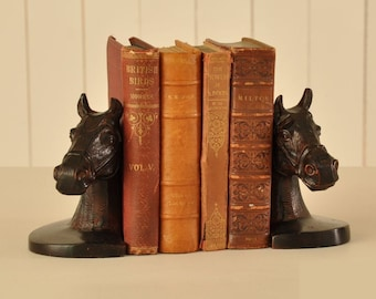 Bronze Horse Bookends. Equestrian book ends.
