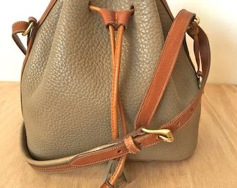 Vintage Dooney & Bourke - All Weather Leather Medium Drawstring Bag