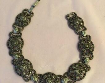 Sterling silver marcasite link bracelet - vintage sterling bracelet - Marcasite link bracelet - vintage Sterling - Vintage Marcasite - gift