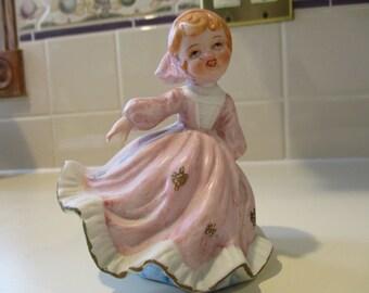 Girl vintage figurine Pink E3385 LEFTON