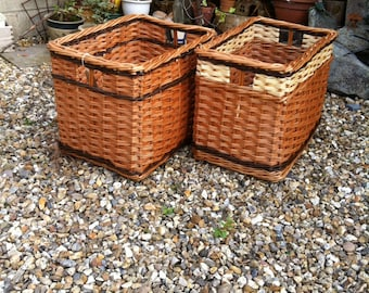Handmade Willow Log Basket