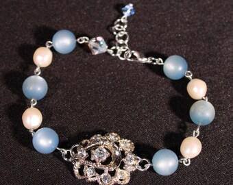 Blue Moon Rhinestone Bracelet