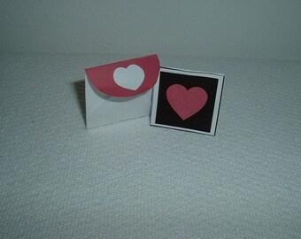Mini Love Card Plus Envelope Love You Printable PDF Template