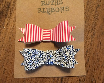 Stars & stripes mini bow set