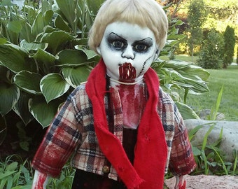 Creepy doll Gracen. Zombie doll, halloween doll, haunted doll, Crabtree's creepy dolls