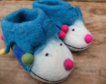 Children's Handmade Felt Animal Slippers Shoes