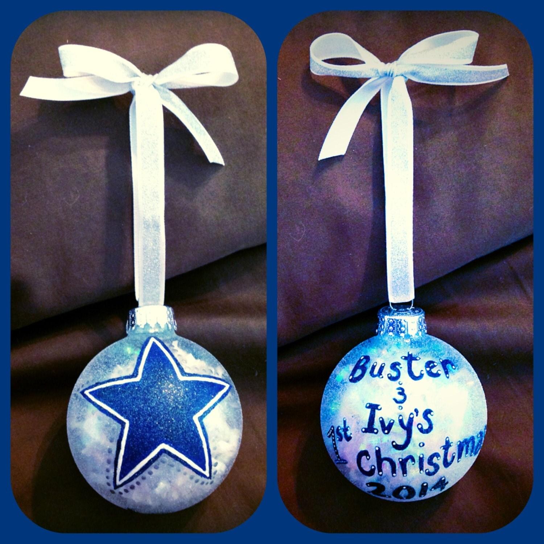Dallas Cowboys Christmas Ornament Hand By WattsGoodArtistry