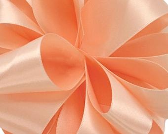 "New 1 yard Single Faced Bellini Satin Ribbon 7/8"" wide, Bellini Ribbon, Bellini Ribbon for Favors"