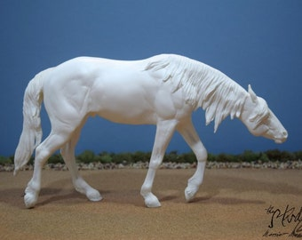"Custom Commissioned/Portrait Model Horse, Traditional Scale Mustang Resin (like Breyer) ""Twister"""