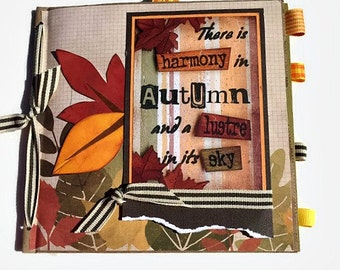 Fall|Autumn Premade Scrapbook | Paperbag Scrapbook | Fall Photo Album