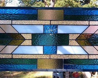 Mission Style Stained Glass Panel