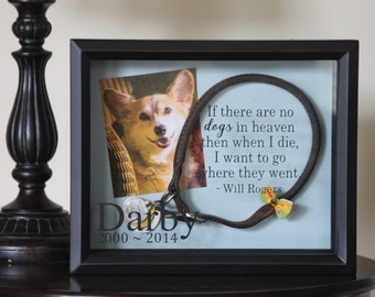 Pet Memorial Shadow Box: Dog Memorial Shadow Box, Cat Memorial, Pet Memorial Box, In Memory Of 8x10