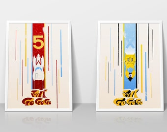 Speed Racer Graphic Poster Set