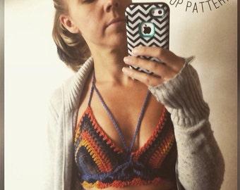 Crochet bralette PATTERN , crochet top pattern Bralette Top Pattern Crochet Crop Top Crochet Lace Top Crochet Bikini Top Crochet Bra