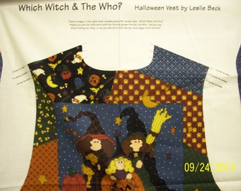 Halloween Vest by Leslie Beck Which Witch & The Who? to sew can be made in sizes s m l you pick cute vest