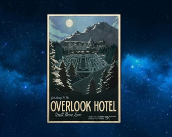 The Overlook Hotel Travel Style Fridge Magnet. NEW. Inspired by The Shining. King, Kubrick