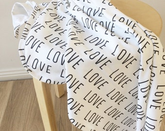 Love organic baby swaddle wrap. Baby swaddle. Organic cotton wrap. Nursery wrap.